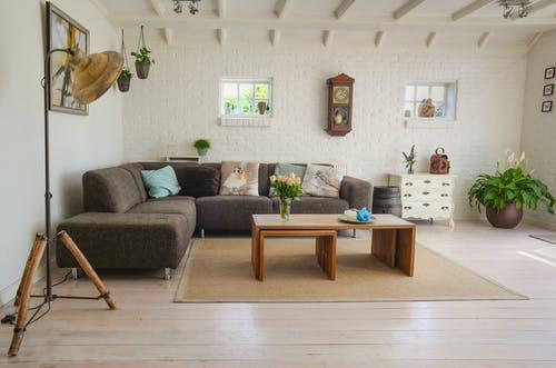 clean beautiful living room